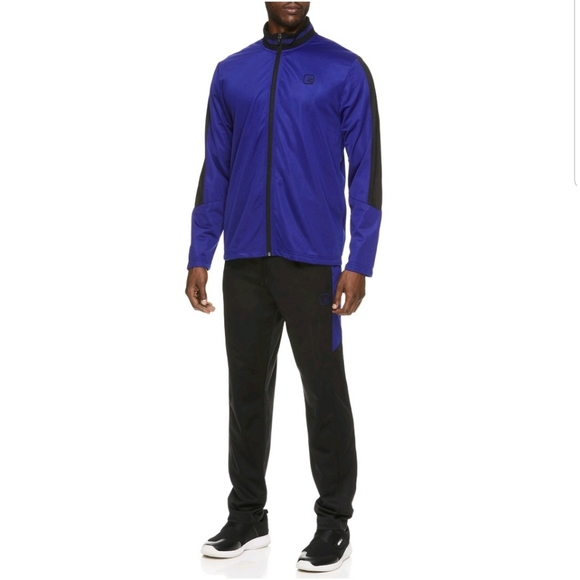 NWT-Mens 2 Pc And1 Black Warm Up Athletic Track Jacket /& Pants Set L XL /& 2XL